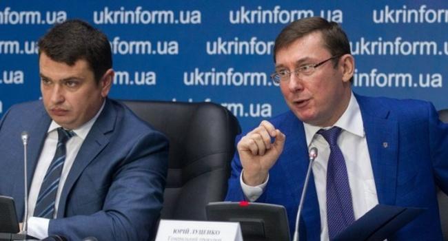 Эксперт: итог реформы – Сытник и Луценко следят друг за другом, «роют» компромат, а коррупционеры дальше спокойно работают