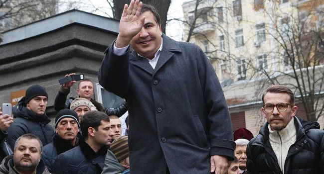 Появились новые фото ивидео акции приверженцев Саакашвили вКиеве