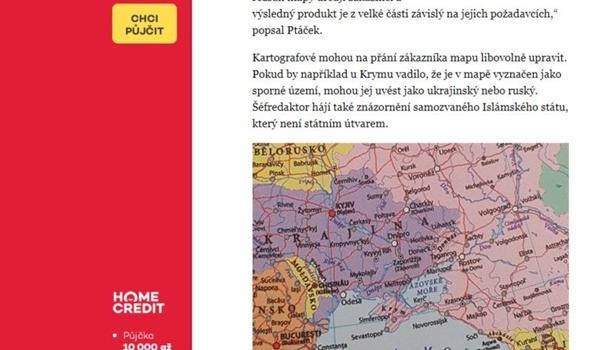 Русский Крым икарту ИГИЛ* напечатал вдневнике чешский перевозчик