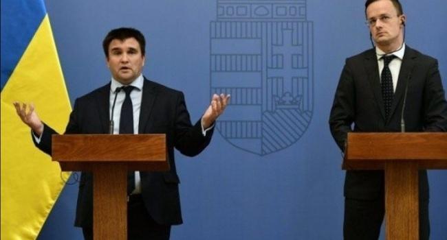 Климкин о встрече с Сийярто в Будапеште понимают что нужно двигаться вперед