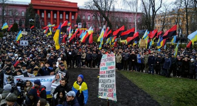 Практически 6 тыс. приверженцев Саакашвили начали «Марш заимпичмент» вцентре столицы Украины