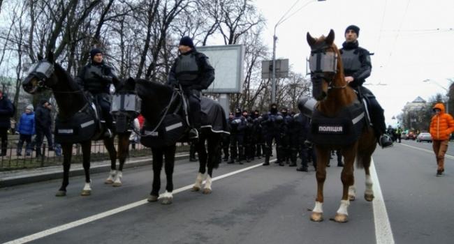 ВКиеве дан старт маршу приверженцев экс-президента Грузии Михаила Саакашвили