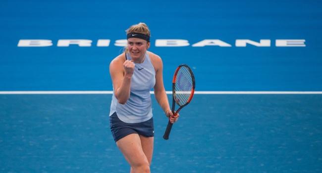 На турнире в Брисбене Свитолина прошла в полуфинал