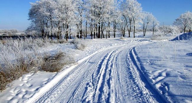 В государство Украину  идут снегопады