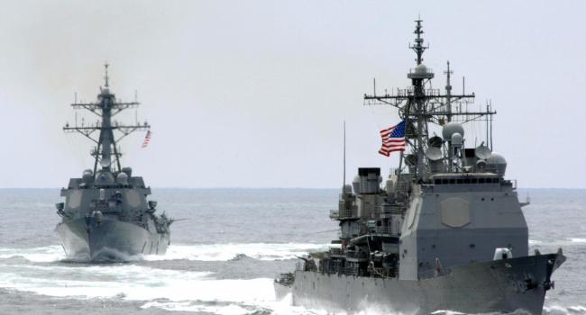 Жители Америки показали собственный эсминец вЧерном море