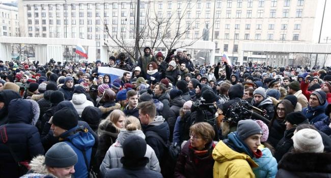 «Путин— ху*ло» спели прямо вцентре столицы