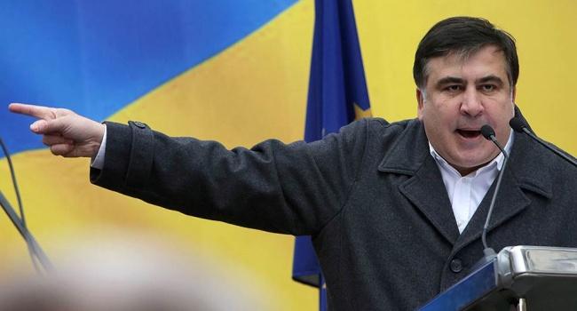 Саакашвили объявил обобысках уего приверженцев вответ акцию против Порошенко
