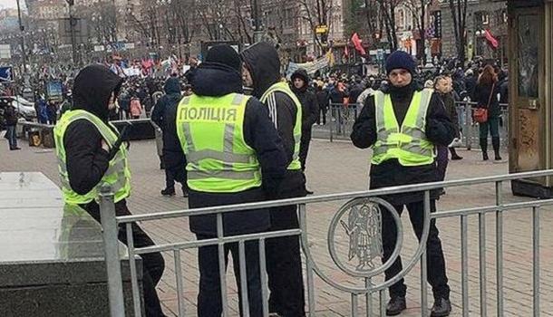 Вцентре Киева «дежурят» 2 тыс. правоохранителей