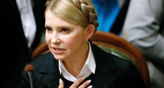 Тимошенко выступила за «мирный протест» с гранатами под Верховной Радой