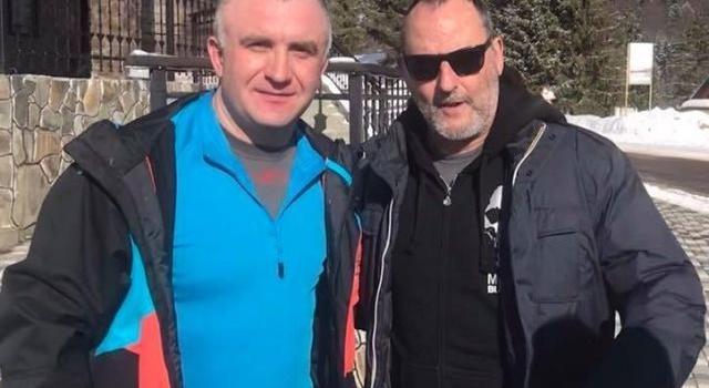 Жан Рено приехал в Мукачево и заговорил по-украински