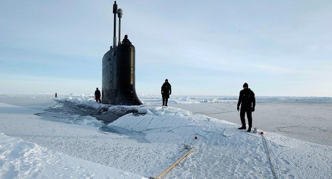 Подлодка ВМС США отработала вольдах Арктики «удары поРоссии»