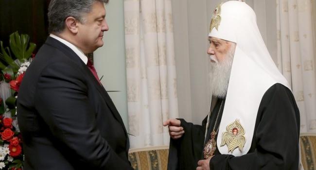 Журналист: если Порошенко удастся пропихнуть идею автокефалии для УПЦ КП – церковь может объявить его святым