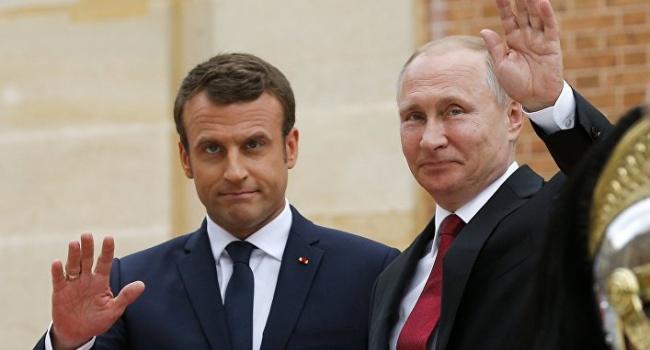 Политолог: Кремль заранее уверен в печальных итогах встречи с Макроном