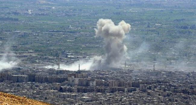 В результате авиаудара войск Асада и Путина по детской больнице погибли гражданские и дети