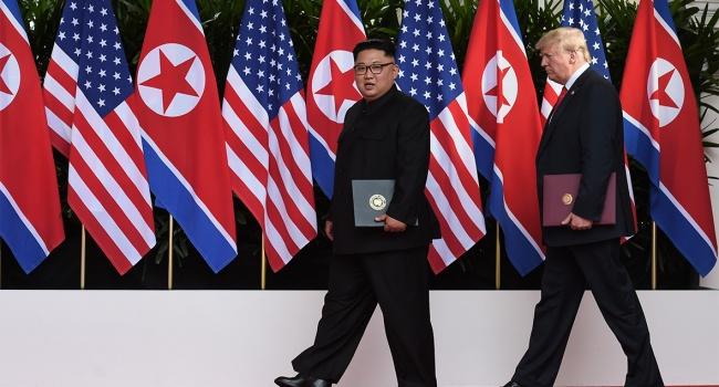 Северокорейское телевидение все еще не сообщило о встрече между Трампом и Ыном