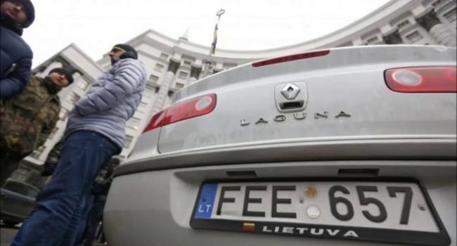 В совете Рады разработали механизм решения проблемы савтомобилями наеврономерах— Продан