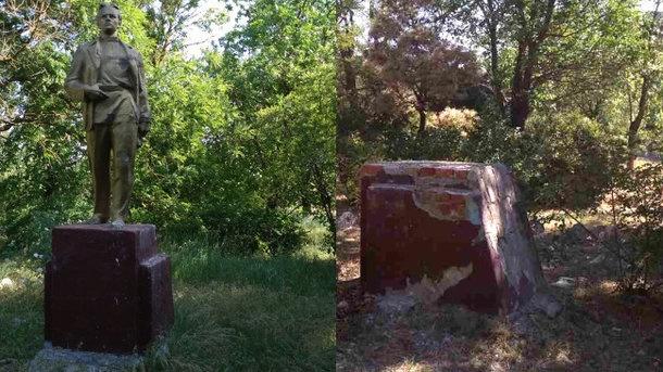 В Запорожской области демонтирован последний памятник Ленину