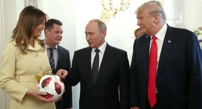 Паранойя спецслужб США: Вподаренном Трампу мяче ищут прослушку