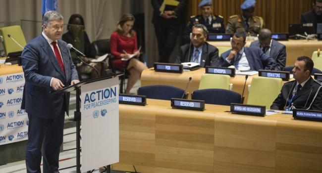 Петр Порошенко призвал ООН ввести миротворцев на Донбасс