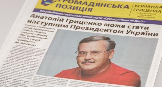 Анатолий Гриценко полковник уволен в запас