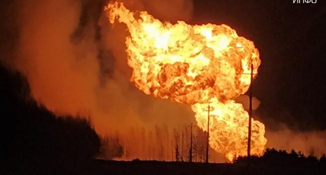 ЧП в России на территории Рязанской области взорвался магистральный газопровод