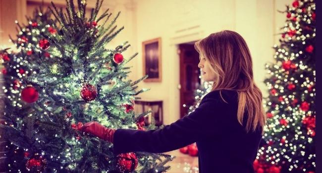 Мелания Трамп показала, как она украсила Белый дом к Рождеству