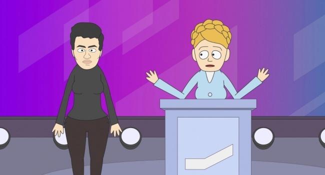Порошенко и Тимошенко «добивают» друг друга мультиками