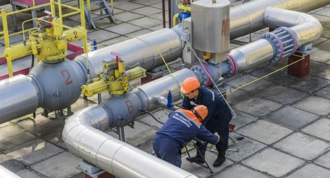 Украина сократила запасы газа до 37 процентов