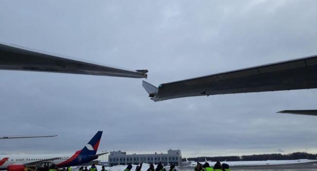 Ваэропорту Внуково столкнулись два самолета