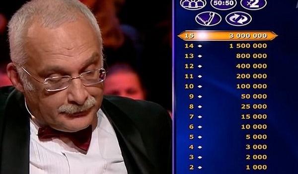 Александр Друзь попал в скандал на программе Кто хочет стать миллионером