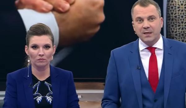 Молчание ипрезрение. супруг Скабеевой неответил напровокацию украинскогоТВ