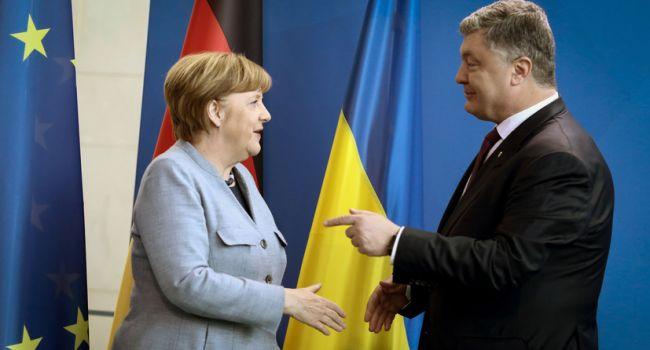 Впервые в истории украино-немецких отношений канцлер ФРГ открыто поддерживает одного из кандидатов на пост президента Украины