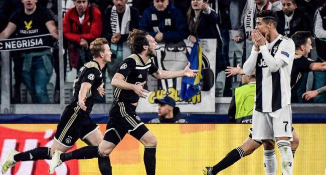 «Ювентус» не устоял под натиском «Аякса», и вылетел из Лиги чемпионов