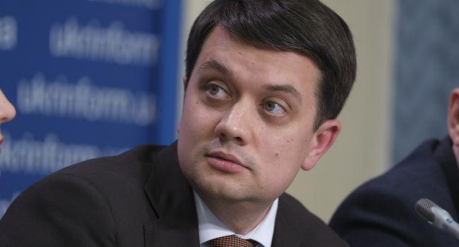 Журналист: заявление Разумкова порождает осторожный оптимизм