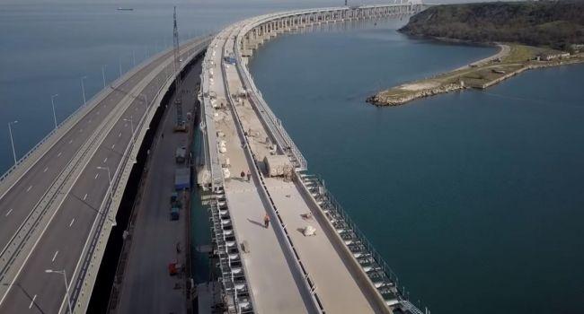 Крымский мост проработал свой 1-ый  год