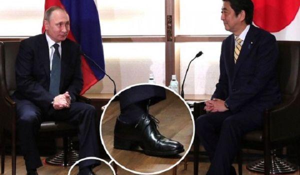 Аж изгибается ступня: пользователи взбудоражены туфлями Путина на огромном каблуке
