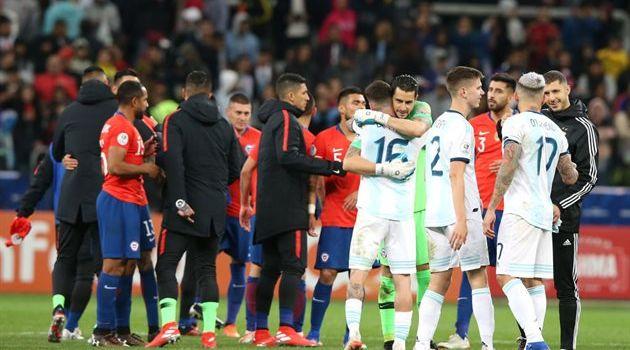 Аргентина минимально обыграла Чили в «утешительном» матче Копа Америка