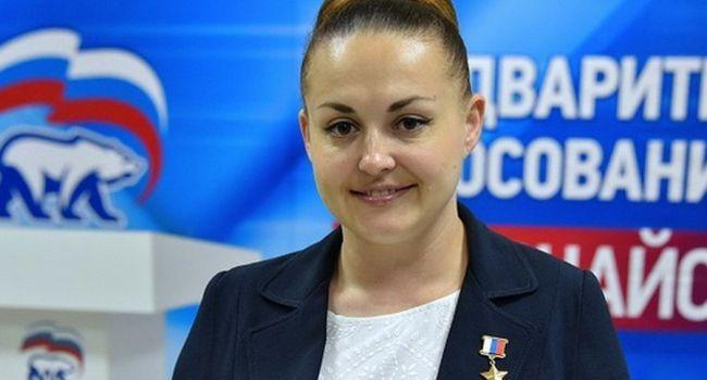 Депутат Госдумы заявила, что лично видела с борта МКС, как украинские войска якобы бомбили мирных жителей Донбасса