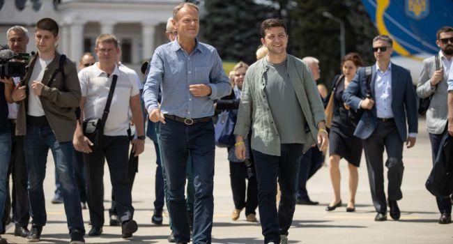 Зеленский и Туск посетили Луганщину
