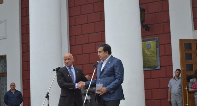 Саакашвили – Труханову: «Гена, выходи подлец, выходи трус!»