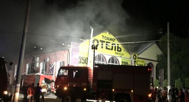 Количество пострадавших в результате пожара в одесской гостинице увеличилось