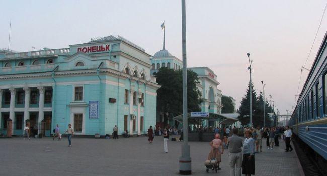 Спустя 5 лет в Донецке возобновил работу железнодорожный вокзал