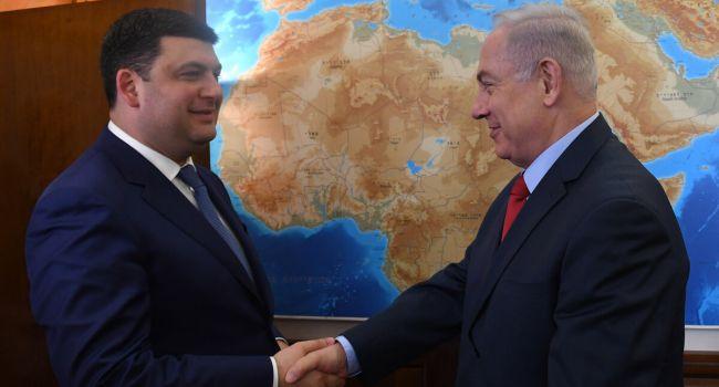 Гройсман назвал визит главы израильского правительства историческим для Украины