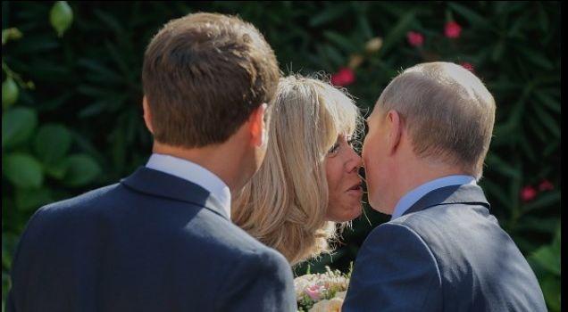 «Ублажил старушку»: Путина жестко разнесли в сети из-за странного комплемента жене Макрона