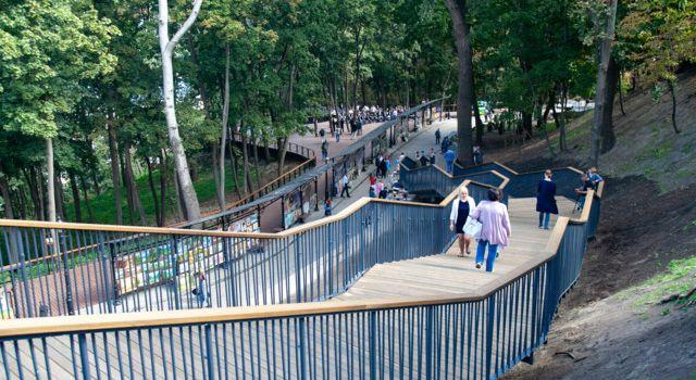 В Киеве появилась новая лестница, ведущая к Аллее Художников
