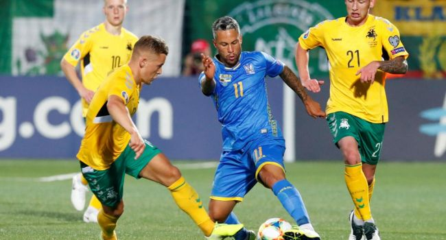 Отбор на Евро-20: Сборная Украины уверенно побеждает Литву на выезде