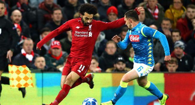 «Ливерпуль» проиграл «Наполи» на выезде со счетом 0:2