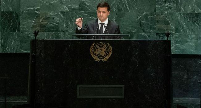 Выступая с высокой трибуны ООН Зеленский обращался не к залу Ассамблеи, а к украинцам у телевизоров, – политолог