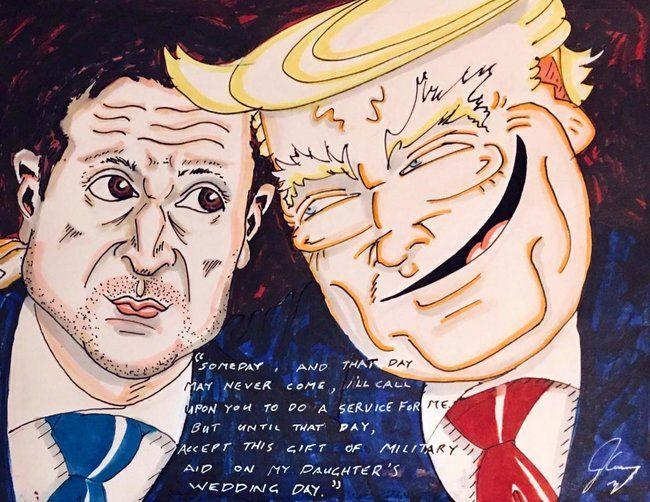 «Брюс всемогущий!»: Джим Керри нарисовал рисунок на скандал Зеленского – Трампа