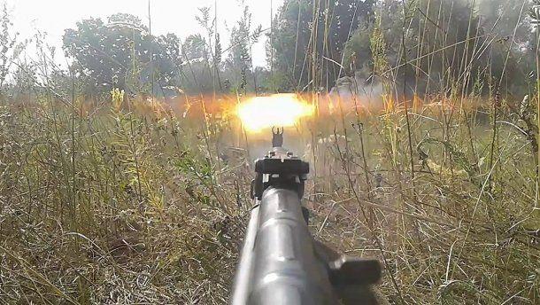 «Слава нації, смерть ворогам!»: Бойцы К2 54-й ОМБ «разорвали в клочья» позиции оккупантов